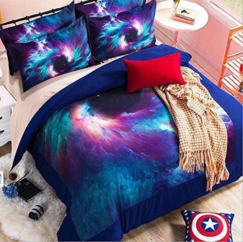 WYFC Star Abrieb Kinder Bettwäsche 3 Stück Bettbezug Set 1 Stück Bettbezug Umschlag Kissenbezüge Standard-Set von 2 Standard, a, Twin -