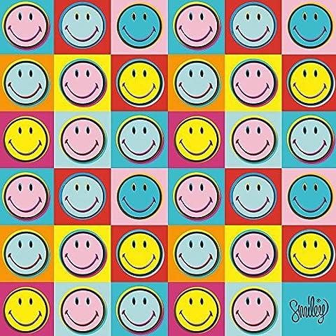 Smiley Pop Art 40x 40x 40cm Toile, multicolore