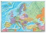 Europa politisch, Wandkarte 1:6 Mio., Magnetmarkiertafel (freytag & berndt Poster + Markiertafeln)