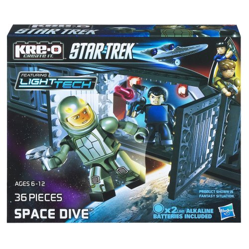 Hasbro KRE-O A3183 Star Trek Space Dive Bausatz (A3138) 36 Teile, 2 Kreo Figuren