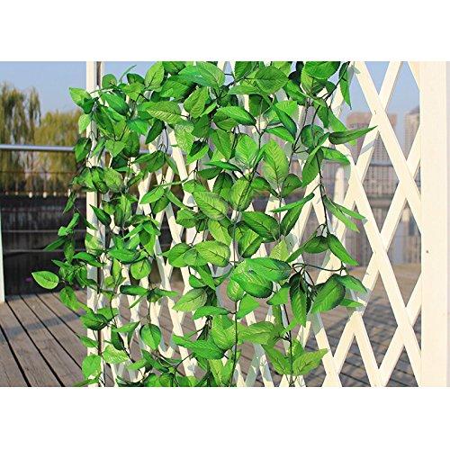 Gsylol 2.4 m verde seta artificiale rose foglie vite rattan hanging cane piante rampicanti ghirlanda di cerimonia nuziale casa decorazione di graden