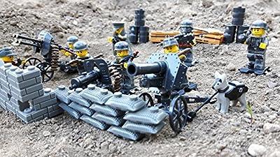 Modbrix 17002 ? Wehrmacht Artillerie Schützengraben inkl. 8 custom Minifiguren über 300 Teile ? von Modbrix