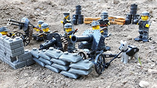 Modbrix 17002 ✠ Wehrmacht Artillerie Schützengraben inkl. 8 custom Minifiguren über 300 Teile ✠ Test