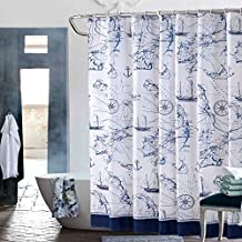Ducha poliester impermeable cortina baño moho gruesa carta náutica/ paño de cortina de ducha cuarto de baño/Cortinas añadir al plomo-B