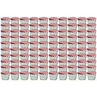 100er Set Sturzglas 230 ml Marmeladenglas Einmachglas Einweckglas To 82 rot karrierter Deckel
