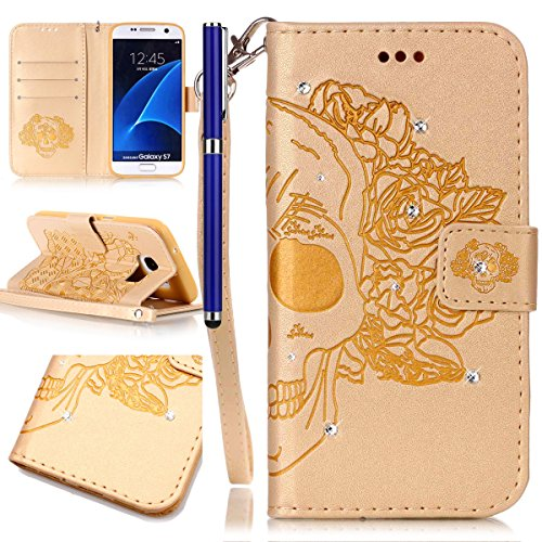 fesele-samsung-galaxy-s7-case-bling-bling-sparkling-pu-leather-cover-with-rhinestone-diamond-design-
