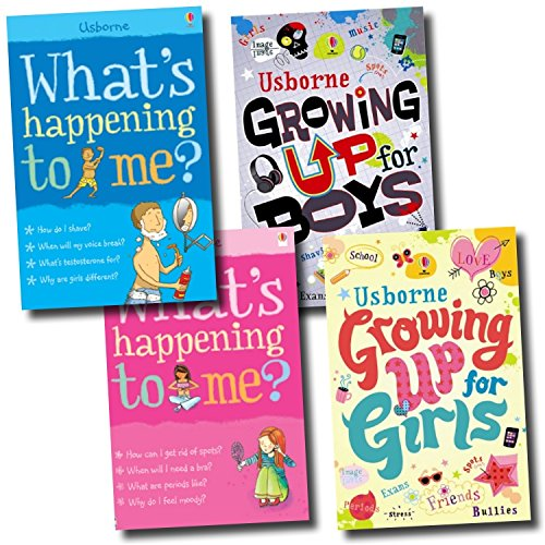 What's Happening to me Growing up for Boys and Girls Collection 4 Books Set, (What's Happening to Me?: Boy, What's Happening to Me? (Girls Edition) (Facts of Life), Growing Up for Boys, and Growing Up for Girls)