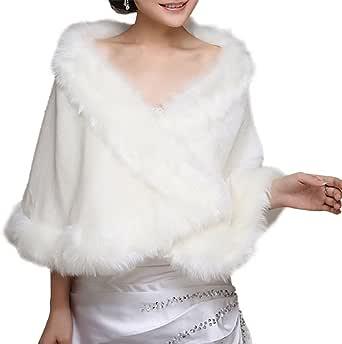 Insun Donne Scialle Faux Fur dello scialle di Bolero Lady regalo Mantella Coprispalle