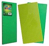 Play Build Baseplate Brick Set - 2 Stück - 10 x 20 Zoll - Grundplatten - Kompatibel mit LEGO DUPLO (Diese Marke steht nicht in Verbindung mit Lego Duplo) Empfohlene Altersgruppe 3+