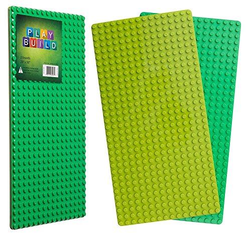Play Build Baseplate Brick Set - 2 Stück - 10 x 20 Zoll - Grundplatten - Kompatibel mit LEGO DUPLO (Diese Marke steht nicht in Verbindung mit Lego Duplo) Empfohlene Altersgruppe 3+ (Lego Jumbo-set)