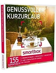 SMARTBOX - Geschenkbox - GENUSSVOLLER KURZURLAUB - 155 Aufenthalte: 2 Nächte mit Frühstück und einem Abendessen in 3* oder 4* Hotels