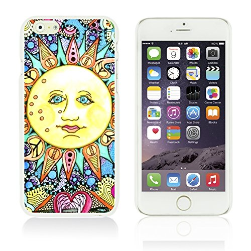 OBiDi - Funny Pattern Hardback Case / Housse pour Apple iPhone 6 / 6S (4.7 inch)Smartphone - A TO Z Psychedelic Sun
