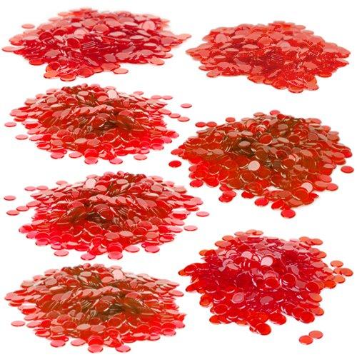 Royal Bingo Supplies 50003/10,2cm Bingo Chips mit Gratis Aufbewahrungstasche, Rot