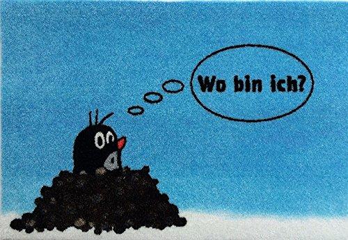 Ham Ich Bin (Waschbare Fußmatte - Maulwurf - Wo bin ich? - Die Maus Fußabstreifer)
