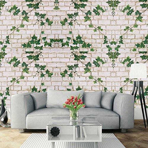 Papel Pintado de Pared Empapelado Autoadhesivo Pegatina Mural 3D Ladrillo Paneles Decorativos Wallpaper Extraíble Impermeable Decoración de Hogar Cocina Salón Moderna TV Decor 0,45M*10M