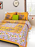 Kismat Collection Luxurious Cotton Printed Double Bed Size Bedsheet With 2 Pillow Cover best price on Amazon @ Rs. 549