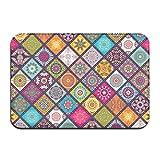 liangxiquguidaojiaotongshe Non-Slip Doormat Kaleidoscope Durable Mat rug Bathroom Bedroom Floor Carpet