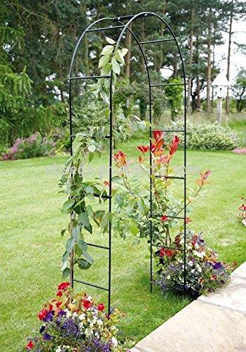 Arco da giardino da 2,4 metri per piante rampicanti, rose, in metallo verniciato a polvere