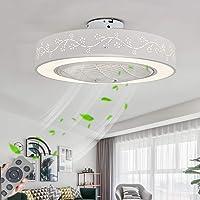 Ventilateur De Plafond Avec LED Lampe,72W LED Dimmable Moderne Plafonnier Lumière,Vitesse Du Vent Réglable,Avec…