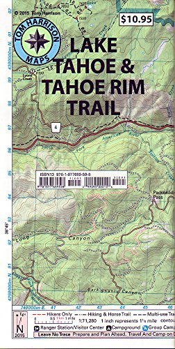 Lake Tahoe & Tahoe Rim Trail (Tom Harrison Maps)