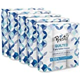 Presto! 3-Ply Quilted Toilet Tissues, 45 Rolls (5 x 9 x 200 sheets) - Pattern: Gem, Pack of 5 Pack of 5 9 rolls per unit