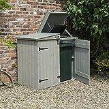 Rowlinson herbinap Heritage Apex Mülltonnenbox, grau Waschen, 153x 81x 130cm