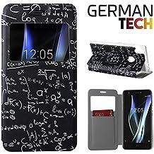 German Tech® - Funda carcasa tipo Libro con función soporte sin solapa para Bq Aquaris X - X Pro, Protege y se adapta a la perfección a tu Smartphone con ventana S-View con la que podrás ver todas tus notificaciones. Fórmulas Matemáticas.