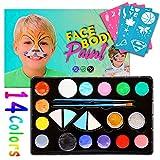 Kinderschminke Set Face Paint,Sinicyder Hochwertiges Kinder Schminkset für Kinder Partys Mädchen &...
