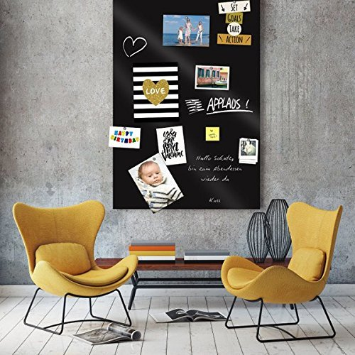 Tapeten Joe Selbstklebende magnetische Tafelfolien, inkl. Kreide, 10 Magnete,  schwarz, 100 x 50 cm