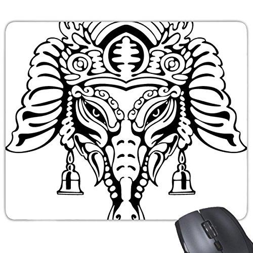 Indien Geschmack Hinduismus Religion Gott Figur Sketch Rechteck rutschfeste Gummi Mauspad Spiel Maus Pad