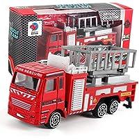 Legierung Engineering-Car, rot Modell Spielzeug Auto, mamum Engineering Spielzeug Bergbau Auto Truck Kinder Geburtstag Geschenk Fire Rescue Einheitsgröße a