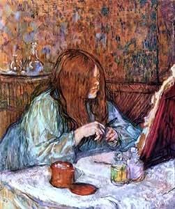 Henri De Toulouse-Lautrec Woman à sa Toilette Madame Poupoule :  20 x 25 cm-impression De qualité sur toile