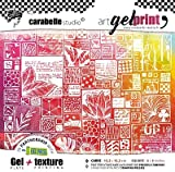 Carabelle Studio Art Printing Square Rubber Texture Stamp, Print Kit Life in Images, for Gel Monoprint Plates