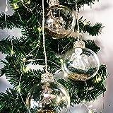 Mojawo 3tlg Set Deko Kugel Exklusive Weihnachtskugeln Tannenbaum Engel Pferd Gold befüllt Ø 8 cm