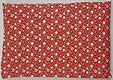Dinkelkissen mit Bezug Nackenkissen Kissen Körnerkissen Wärmekissen (20 x 30, Blumen)