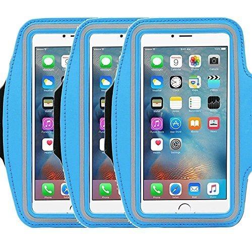 Universal Sportarmband casehigh Shop leicht Montage Sports Sportarmband mit bauen in Bildschirm schützen Fall für kratzfeste Material Slim Leichtes, armband blue 3pack Active-fit-ipod