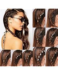 Mujer niña 60 unidades, gótico punk estilo horquillas pinza de pelo geométrica hojas de cinco puntas estrella cruz redondas pelo espirales rizos joyas para el pelo