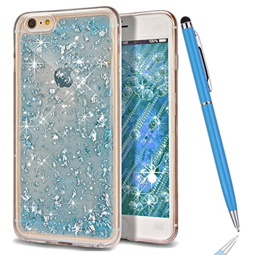 iPhone 5S Coque,iPhone SE Silicone Coque,iPhone 5 Housse - Felfy Glitter Etui Housse Placage Coque en Silicone Ultra-Mince Etui Soft Housse Plating Case Slim Gel Cover, Felfy Etui de Protection Cas Ul bleu bling