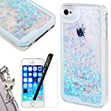 Coque iPhone SE We Love Case Coque iPhone 5 Glitter Paillettes Amour Bleu Clair Etui...