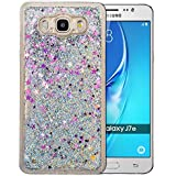 """Coque Samsung Galaxy J7 2016 Silicone Nnopbeclik® Paillettes Briller Style Backcover Doux Soft Transparente Housse pour Samsung Galaxy J7 2016 Coque silicone """"J710F"""" (5.5 Pouce) Antichoc Protection Antiglisse Anti-Scratch Etui """"NOT FOR J7 2015"""" - [Argent]"""