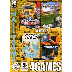 4Games Vol. 8 (18 Wheels of Steel – Pedal to the Metal / Euro Club Manager 2005-2006 / Eets / Fastlane Pinball)