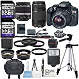 Canon EOS Rebel T6 18.00MP DSLR Camera with EF-S 18-55mm f/3.5-5.6 IS II Lens, EF 75-300mm f/4-5.6 III Lens, and Deluxe Accessory Bundle