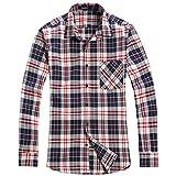 OCHENTA - Camicia Casual - Maniche Lunghe - A Quadri Flanella - Uomo N002 Chris Green Asian 5XL - Italiana 2XL+