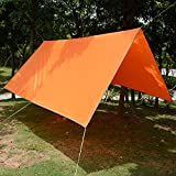 Kelenpro 3 x 3m Lightweight Waterproof Tent Tarp Rain Fly Hammock Shelter with Guy Lines and Pegs - For Outdoor Camping Hiking - Kelenpro - amazon.co.uk