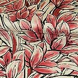 Stoffe Werning Strickjersey großes Blumenmeer Weinrot Modestoffe Flower Frauenstoffe Strickstoff - Preis Gilt für 0,5 Meter
