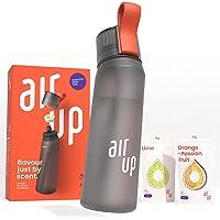 air up Starter-Set - 1 x Trinkflasche BPA-freies Tritan 650 ml 2 x Pods Geschmack Limette & Orange-Maracuja - Für…