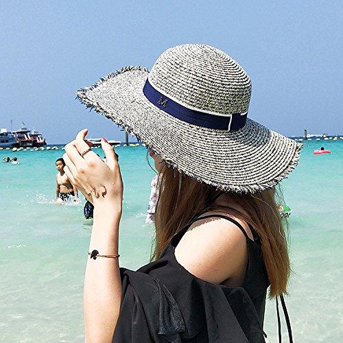 Le président Beach Resort Cap Femme Chapeau de Paille Chapeau de Soleil Pare-Soleil big Sea Border Le Long de la pac