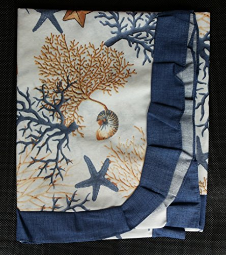 Tovaglia pvc idrorepellente cuscini tappeto coprisedia corallo blu made in italy (tovaglia pvc 140x180)