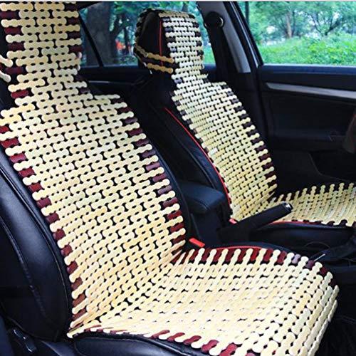 Oyamihin Natürliche Bambus Auto Sitzkissen Sommer Coole Kissen Breathable Bequeme Sitzbezug Pad Matte Universal für Auto Autos - Holz Farbe
