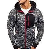 ITISME Herren Pullover Herren Hoody Zipper Slim Hoodies Sweatshirts Pullover Mantel Jacke (Large, Rot)